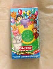 Fisher Price Little People Discovering Animals VHS Tape 2001 Factory Sealed