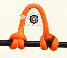 3 Pack Flo. Orange Archery Release Bow String Nock D Loop Bowstring BCY #24