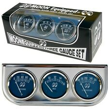 MOONEYES GAUGE SET 3 GAUGE CLASSIC SET HOT RODS CUSTOMS RAT RODS VW CARS TRUCKS
