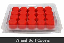 20pcs x RED Wheel Silicone 17mm Nut / Bolt / Screw Covers Caps /1300
