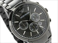 ARMANI AR 2453 MEN watch Black dial, complete black tone wrist watch for man