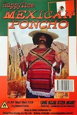 NEW Mexican Poncho Costume Unisex Fancy Dress One Size Fits Most Adult Mens