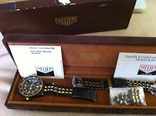 Vintage Pre-TAG Heuer MINT Black Coral Collector's set 1-owner PVD Watch -RARE!