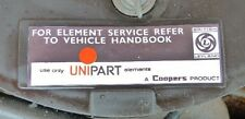 "Classic Unipart ""Element Service"" Air Filter Box Sticker Label MGB Triumph Mini"