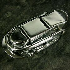 PAIR OF TOGGLE CASE CATCH LATCH  SMALL SILVER Trunk Box Chest Suitcase