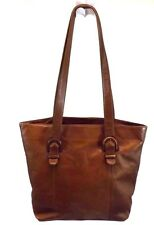 Boulder Ridge Handbag Shopper Tote Shoulder Purse Bag Brown  Leather XL Preowned