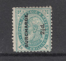 Tonga Sc 24b MLH. 1894 2½p surcharge on 1sh King George I, top value to set