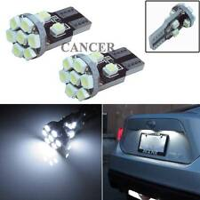 2pcs Xenon White 13-SMD T10 168 194 2825 LED Bulbs For Car License Plate Lights