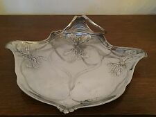 Germany Orivit AG Jugendstil Art Nouveau Relief Flowers Organic Footed Tray 3246