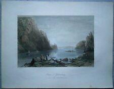 1842 Bartlett print GOLUBAC FORTRESS ON DANUBE, SERBIA (#70)