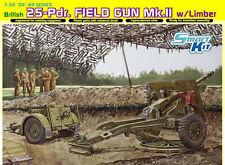 DRAGON British 25-Pdr. Field Gun Mk.II w/Limber  Nr.: 6774  1:35