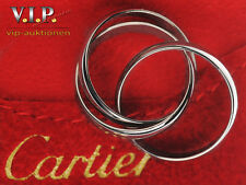 Cartier Trinity bague Ltd. Edition 1999 White anillo de oro talla 51 18k/750er circonitas