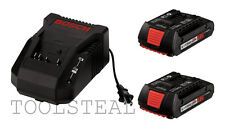 Bosch BC660 14.4v-18v Litheon Charger and 2 BAT609 18v Litheon Batteries - NEW