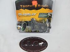 "Trophy Ridge Pursuit 1 pin slider adjustable Compound Bow Sight .019"" RH + light"