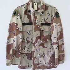 VINTAGE US ARMY JACKET CHOCOLATE CHIP DESERT CAMO 1st PATTERN 1981 PATCHE SMALL