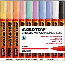 MOLOTOW ONE 4 ALL 227 -10 PIECE DRAWING MARKER PEN SET - PASTEL COLOURS
