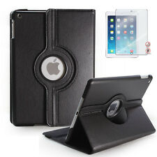 New Black 360 Rotating Case For A pple i Pad Air 5 +1pc Matte screen protectors