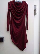 Bordeaux red dress ALEXANDER MCQUEEN 2008 never worn S