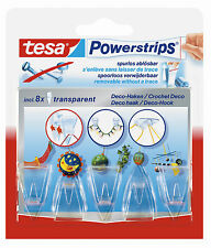 Tesa Powerstrips removable stick on Deco-Hooks; 5pk