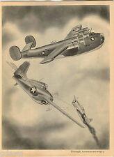 1943 Fighting War Plane Planes Print Coronado Consolidated PB2Y-2 Navy Bomber