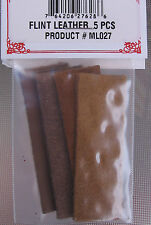 "Flint ""Lock Jaw Leathers"" (5) Leather Strips -For Your Flintlock Rifle or Pistol"