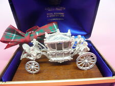 Silver Coronation Carriage, Sterling, Hallmarked 1977, Toye Kenning & Spencer.