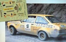 "DECAL CALCA 1/43 FORD ESCORT MKII ""CAROCHE"" E.BALCAZAR MONTSENY-GUILLERIES 1980"