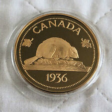 EDWARD VIII 1936 CANADA PLAIN EDGE BRONZE PROOF PATTERN CROWN