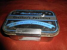 Scatola latta BLACKCURRANT - GRETHER'S PASTILLES A Base De Glycerine Et Cassis