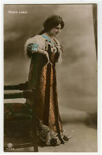 c 1910 Opera Singer MARIA LABIA tinted hand tinted French photo postcard