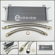 Classic Mini Oil Cooler 13 Row Kit INCLUDING BRAIDED Hoses austin car pipes
