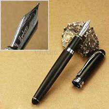 Jinhao X750 Smooth Deluxe Black And Silver 18kgp Fountain Ink Pen M Nib Gift New