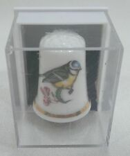 Vintage Collectible Souvenir Thimble Bone China Forest China Company Bird - New