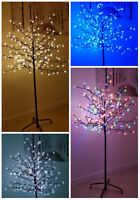 Large 5ft 6ft Pre-Lit Light up 200/240 LED Cherry Blossom Tree Christmas Xmas