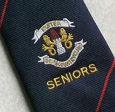 EXETER GOLF & COUNTRY CLUB SENIORS TIE NAVY VINTAGE 1970s 1980s FREDERICK THEAK