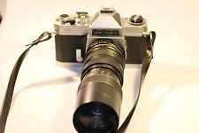 VINTAGE CHINON CS 35mm SLR FILM CAMERA WITH OPTOMAX 1:3.8 F=85~205mm LENS