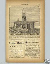 1878 PAPER AD Centennial Exposition Philadelphia Canada Lumber Building Canadian
