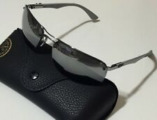 NWT RAY BAN Men's RB 8310 004/82 CARBON FIBER POLARIZED MIRROR SUNGLASSES 63/17