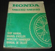 Werkstatthandbuch Honda MBX 50 / MBX 80 Shop Manual Manuel D´ Atelier Stand 1982