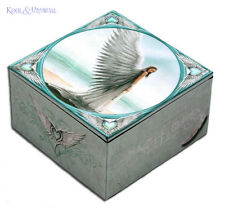 "Anne Stokes Trinket Jewellery Box with Mirror: ""Spirit Guide"" Guardian Angel"