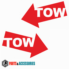 TOW OPPOSITE (PAIR) Rally Motorsport JDM Racing Bumper Car Stickers Vinyl Decals