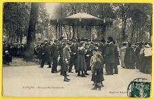 cpa 61 - ALENÇON en 1907 (Orne) KIOSQUE à MUSIQUE Concert Jardin des PROMENADES