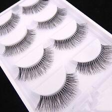 5 Pairs Natural Long Black Eye Lashes Makeup Handmade Thick Fake False Eyelashes