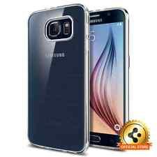 For Samsung Galaxy S6 Spigen® [Liquid Crystal] Clear TPU Case Ultra Slim Cover
