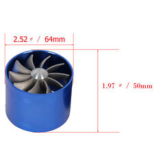 New Propeller Car Blue Single Turbine Charger Air Intake Gas Fuel Saver Fan