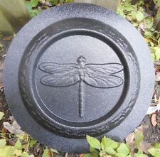 concrete plaster mold dragonfly mini birdbath plastic mould