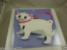 for Iphone 4 4S phone case Cute White cat Kitty pink trim oversized