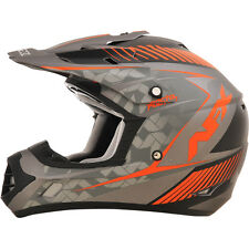 AFX Frost Gray/Safety Orange FX-17 Matte Factor Helmet ( XL ) 0110-4485