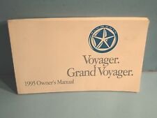 95 1995 Plymouth Voyager/Grand Voyager owners manual