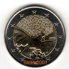 NEW !!! 2 EURO COMMEMORATIVO FRANCIA 2015 70 anni Pace in Europa NEW !!!